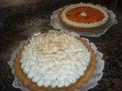 Tarta de durazno y Lemon Pie