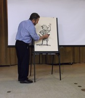 Mr. Harper Demonstrates Illustrating