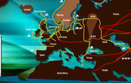 The routes they took to trade