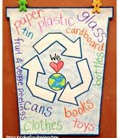 Una lista de cosas Para     Reciclar