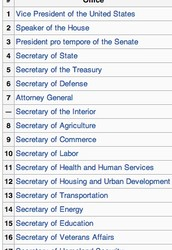 The Line of Presidential Succession