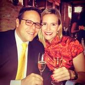 A toast to Mariana and Rafael!