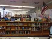 Beginning chapter books and Reading Olympics on display