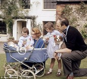 Roald dahl and his family