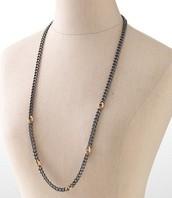 Hematite Link Chain Necklace