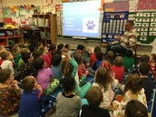 Mr. B. reviews Leader of the PACK expectations to Kinders!