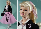 One of the many popular toys for girls was Barbie dolls by Mattel inc. in 1959