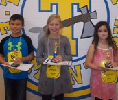 Giovanni, Anna, and Kaylee - Top 3 Spellers