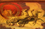 Apollo on his fire chariot