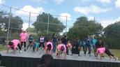 Molina principals dancing Zumba!