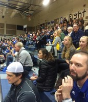 Huge crowd in support of basktetball play-offs!