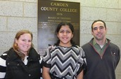 Advisors Kim Brewster and Doug Kennedy, pictured with DMS student, Tulsi Patel