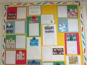 We're very proud of our How To bulletin board that celebrates the holidays!