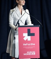 Emma at her UN speech for HeForShe