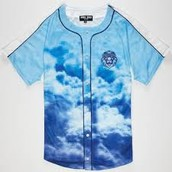 Aura Cloudy Lion Baseball Jersey