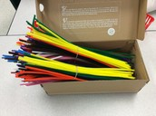 5 bundles of 100 pipe cleaners