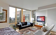 Floor to ceiling windows in every apartment