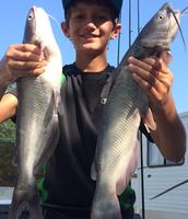 Drew Wagner having great luck fishing on Gibbons Creek!!
