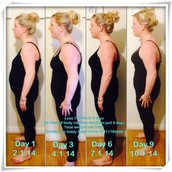 Amy Clarke 1stone 1lb weight loss and 18 inches