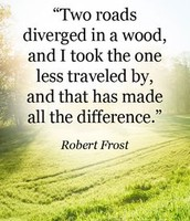 one of Robert Frost's most famous quotes