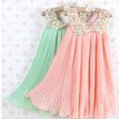 Pink and green dance dress!