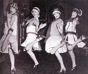Many flappers attended the party.