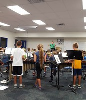 5th grade band is playing notes together!