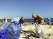 ¿qué? ¡vamos a recogemos plástico, vidrio, y bolsas!
