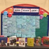 Alden Review Crew Display Board