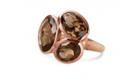 Trilogy Ring in Rose Gold, $59