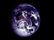 Earth from space showing Australia