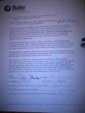Signed Butler Letter