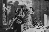 A drunken man assaulting his wife.