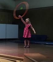 Sophia Schwartz shows off her hula hoop skills