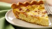 quiche (egg pie)