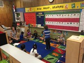 Ms. Stover Leads Her Class During Carpet Time!