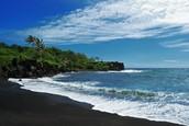 Waianapanapa, a beach on the coast of Maui
