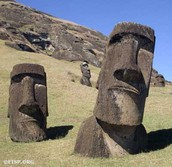 Moai buried in sand