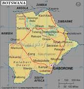 Political Map of Botswana