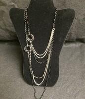 Multi-Strand Black / Silver Necklace