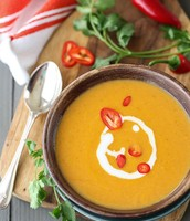 Thai Pumpkin Soup ~ Looking for a fun seasonal ~ Fall warming soup?