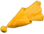 The officials throw this flag when there is a penalty