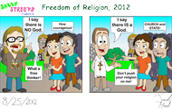 freedom or religion 2012 cartoon