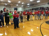 DHS Football team honors the Developmental Football Managers!
