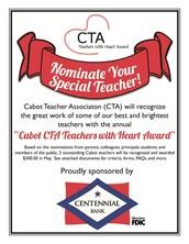 CTA Teachers With Heart Award: