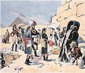 1798- Napoleon invades Egypt.