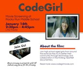 Code Girl Movie: Showing Thursday, January 14