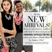 The fall collection is here plus receive a FREE engravable necklace