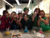 1st Grade St. Patrick's Day Experiments