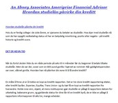An Abney Associates Ameriprise Financial Advisor Hvordan studielån påvirke din kreditt